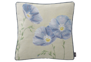 Pagalvėlė Flax flowers-zoom 50*50