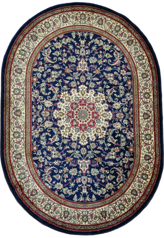 Kilimas Kashmir 1.20*1.70 navy oval