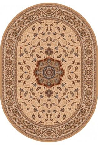 Kilimas Kashmir 1.6*2.3 ivory oval
