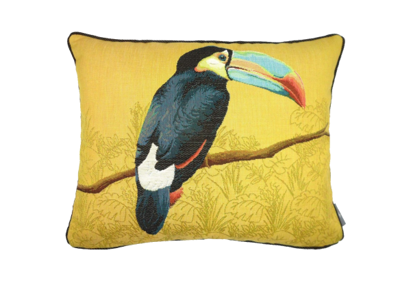 Pagalvėlė Toucan blue beak yellow 40*50