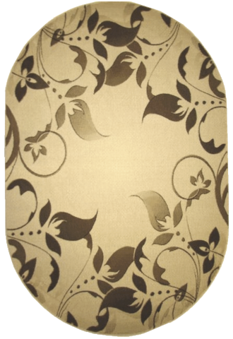 Kilimas Klasik 1.6*2.30 l.beige/d.cream oval