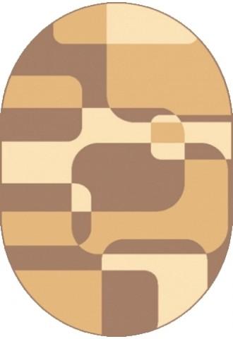 Kilimas Frise Karmel 1.6*2.2 sepia orz oval