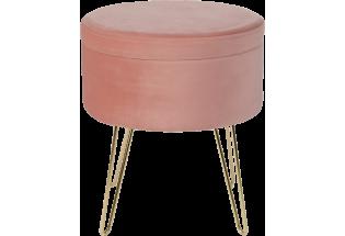 Staliukas Glamour stool 100*100 powder pink