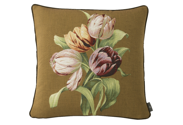 Pagalvėlė Bouquet of 4 tulips brown 50*50