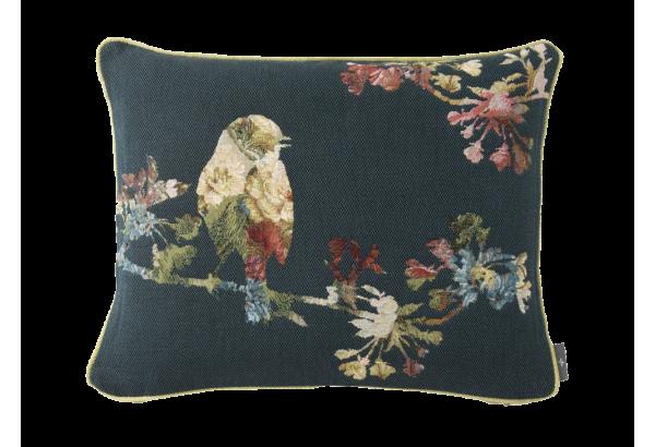 Pagalvėlė Small flowery bird blue 40*50