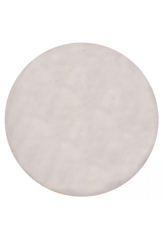 Kilimas Bellarossa 0.80*0.80 white apvalus