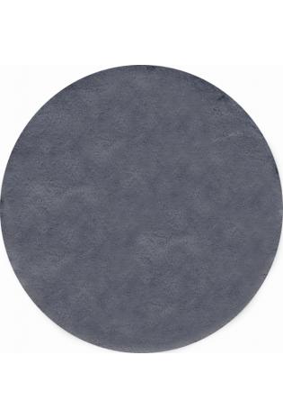 Kilimas Bellarossa 1.10*1.10 dark grey apvalus