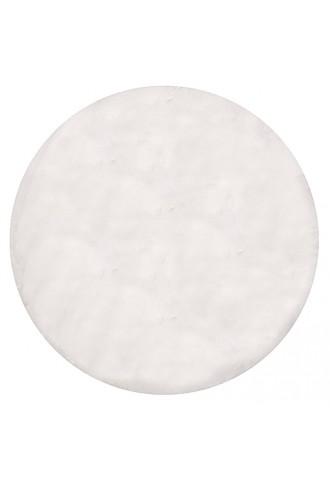 Kilimas Bellarossa 1.10*1.10 white apvalus