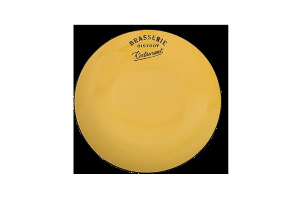 Lėkštė diam21 geltona