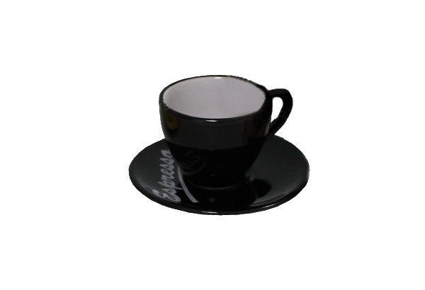 Puodelis su lėkštute Espresso juodas