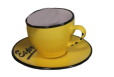 Puodelis su lėkštute Espresso geltonas