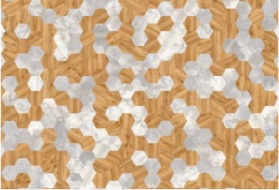 Vinilinės grindys lentelėmis MOODS Hexagon 261