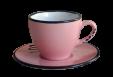 Puodelis su lėkštute Espresso rožinis