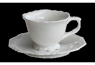 Porcelianinis puodelis su lėkštute