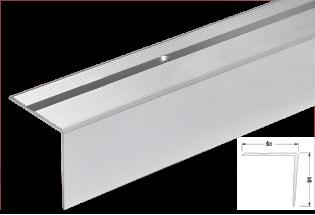 Kampas laiptams aliuminis 50x50mm 300cm