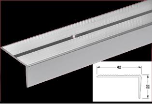 Kampas laiptams aliuminis 22x42mm 300cm