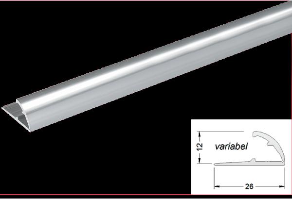 Užbaigimo profilis aliuminis 12mm 270cm
