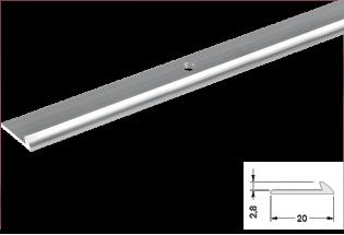 Užbaigimo profilis aliuminis 2,8mm 270cm