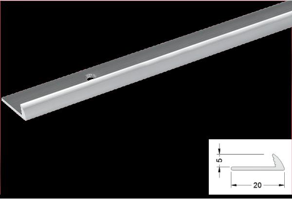 Užbaigimo profilis aliuminis 5mm 270cm