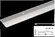Užbaigimo profilis aliuminis 2mm 270cm