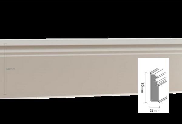 Grindjuostė Hamburger 60mm 2,5m White