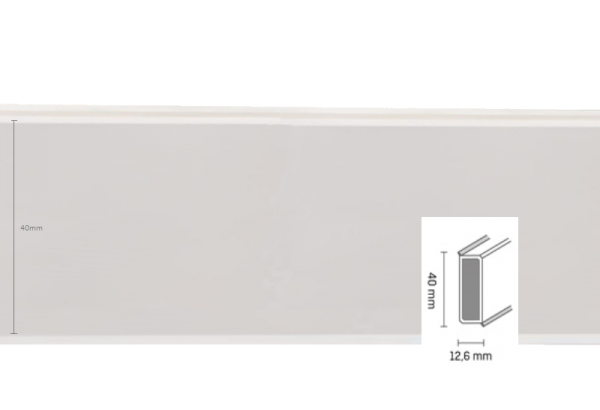 Grindjuostė Cubu flex 40mm 2,5m White