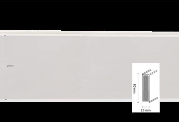 Grindjuostė Cubu flex 60mm 2,5m White
