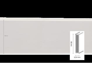 Grindjuostė Cubu flex 80mm 2,5m White