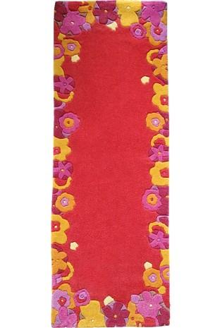 Kilimas Hand Dy Flowers 1328 0.7*2.0